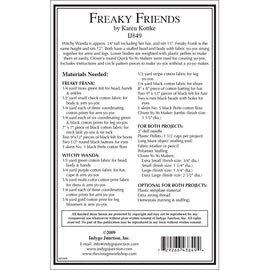 Freaky Friends Stuffed Yo-Yo Doll PDF Patterns