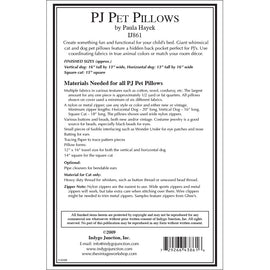 PJ Pet Pillows PDF Pattern