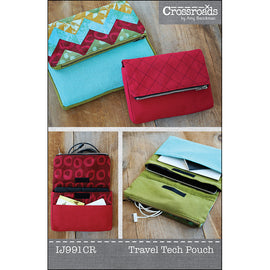 Quilted Chevron Travel Tech Pouch PDF Pattern