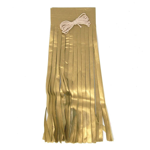 12 Pack, Paper Tassel Garland Banner, Antique Gold, 13-Inch, 8-Piece