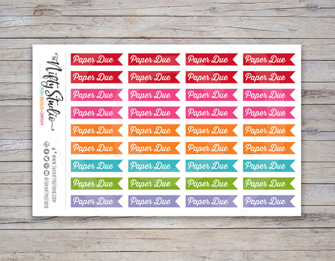 Paper Due Planner Stickers [211]