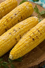 "6 - True Craftware Corn on the Cob 8.5"" Dishes and 12 Skewers"
