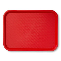 "TrueCraftware Plastic Fast Food Trays 12 x 16"" - Cafeteria Trays - Food Serving Trays - Restaurant Trays - Assorted Colors (Set of 6)"