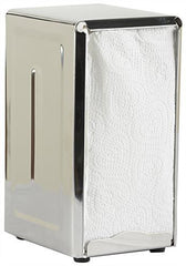 TrueCraftware Stainless Steel - Dual Sided - Tall Fold - Table Top - Napkin Dispenser with Polished Finish (Set of 2)
