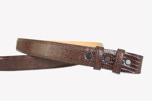 Lizard Strap for Tiffany Slide Buckle, Brown - Accenti Leather