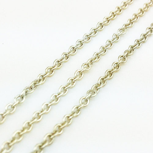 100 cm of 925 Thai Sterling Silver Chain 1 mm (SS0020), VeradaCraft, HaremPantsThai