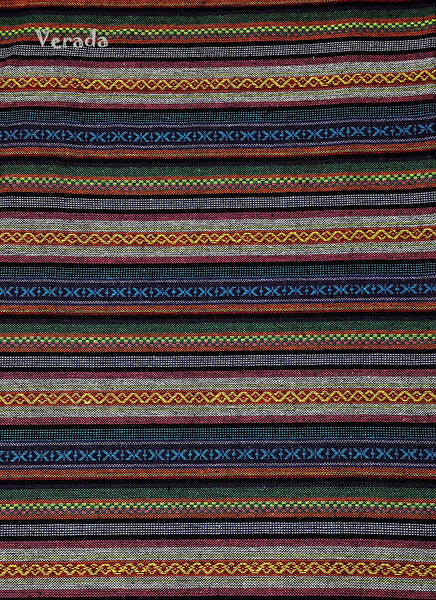 Thai Tribal Native Woven Fabric Cotton Textile 1/2 yard (WF98), VeradaCraft, HaremPantsThai