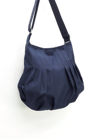 Canvas Bag Handbags Shoulder bag Boho bag Hobo bag Tote bag Navy Blue Jane, VeradaShop, HaremPantsThai
