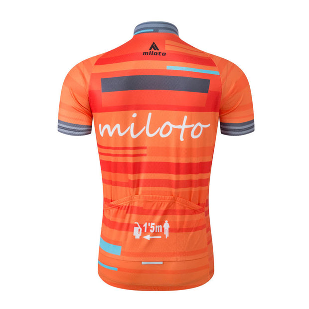 Miloto Orange Cycling Jersey (Short Sleeve)