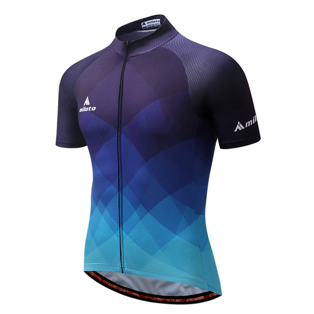 Miloto Blue Fade Cycling Jersey (Short Sleeve)