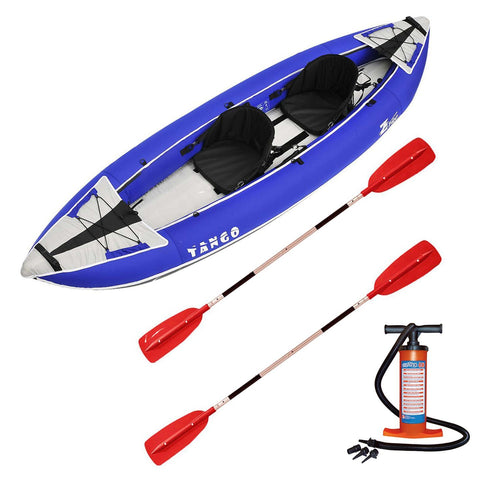 Z-pro Tango 2 man Inflatable Kayak Blue Upgraded Package