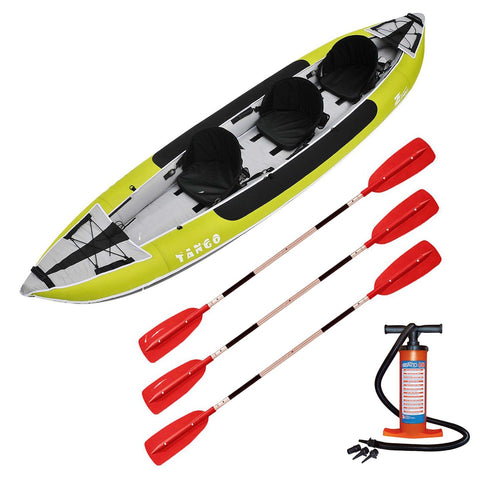 Z-pro Tango 3 man Inflatable Kayak Upgraded Package