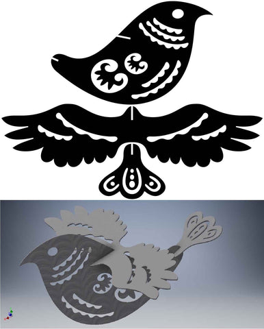 3D Puzzle Ornamental Bird and Scorpion-DXFforCNC.com-DXF Files cut ready cnc machines