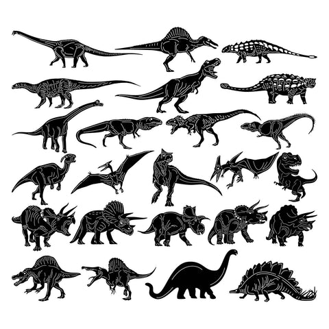 Dinosaurs-DXF files Cut Ready for CNC-DXFforCNC.com