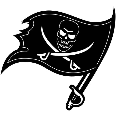 Pirates Flag Free DXF file-Cut Ready for cnc-DXFforCNC.com