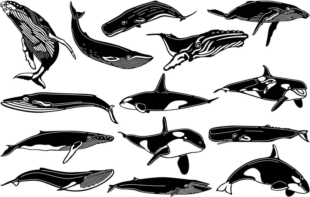 Whales-DXF files Cut Ready for CNC-DXFforCNC.com