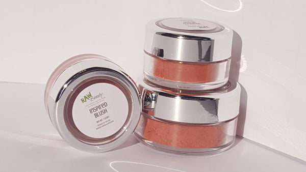 deep pink natural and vegan highly pigmented blush powder