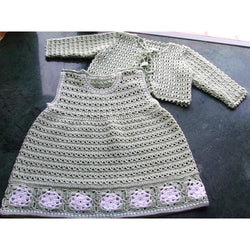 Crochet Baby Dress and a Jacket - Crochet clothes