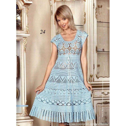 Vinage crochet dress pattern - AsDidy fashion