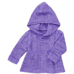 Knitted newborn baby cardigan with a hood - AsDidy fashion