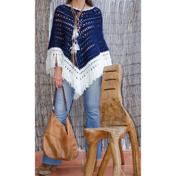 Crocheted poncho - Crochet clothes
