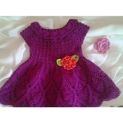 Purple Baby Crochet Dress - FREE SHIPPING - AsDidy fashion