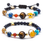 Solar System Bracelet Universe Galaxy The Eight Planets 🧘‍♀️🙏 BUY ONE FREE ONE