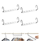Metal Wonder Magic Clothes Closet Hangers Clothing Organizer - 4 Pack