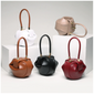 Retro Genuine Leather Handmade Dumplings Satchel Women Handbags