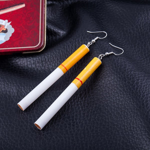 Club Dresses | Club Outfits | Party Dresses Under $9.99, Cigarette Butts Pendant Hook Dangle Earrings - Clubbing Love