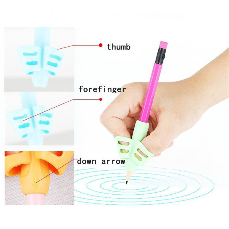 Pencil Grips - Children Pen Writing Aid Grip Set Posture Correction Tool for Kids Preschoolers Children,Hollow Ventilation (3PCS)