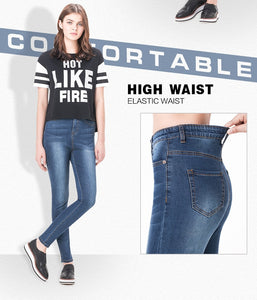 Plus Junior Size High Waist Butt Lift Skinny Jeans High Elastic Plus Size Stretch Jeans Skinny Pencil Jeans