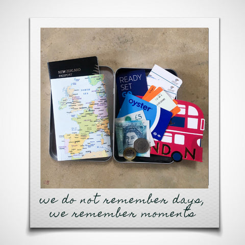 Easily create a memento of your trip with a Europe Travel Wallet & Keepsake Tin