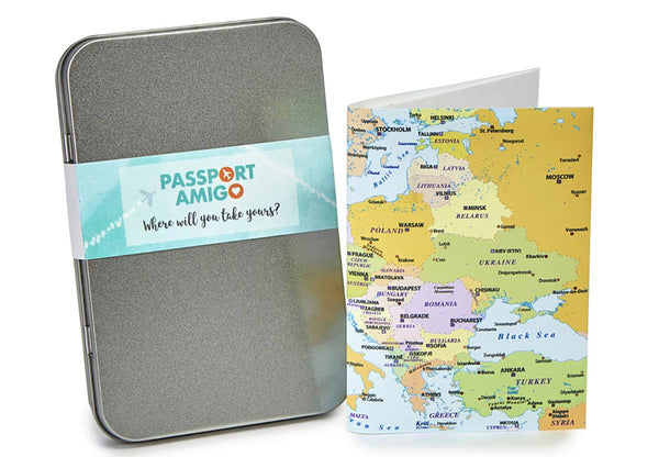 Plot your journey on the cover of this Europe Travel Wallet