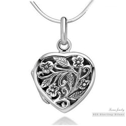 locket necklace สร้อยคอเงินแท้ พร้อมจี้ล๊อกเก็ต 925 sterling silver (made in Thailand) premium quility