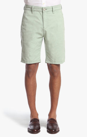 Nevada Shorts In Green Dot Twill