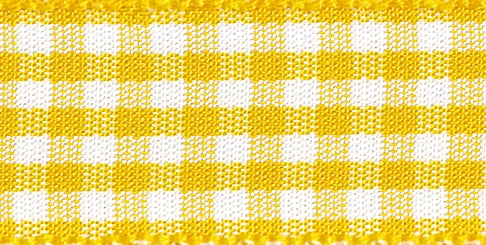 Gingham Ribbon Gold - The Fabric Bee