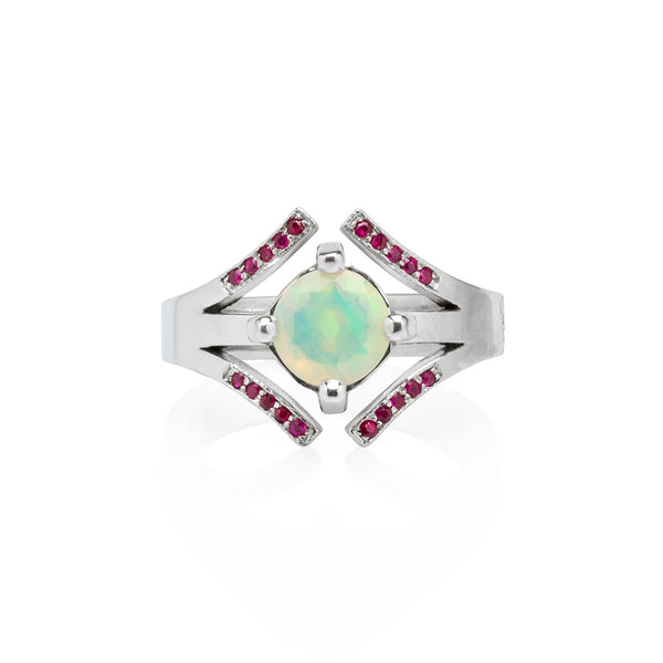Athena Ring: Opal & Ruby