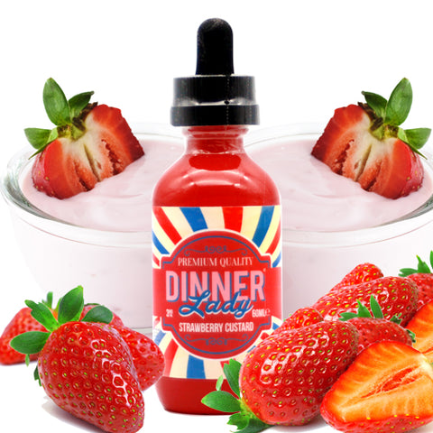 Dinner Lady Eliquid - Strawberry Custard