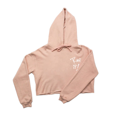 Run It Crop Hoodie / Pink