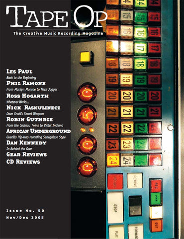Tape Op Magazine - Issue No. 50 (Nov/Dec 2005)