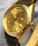 Vintage 1973 Rolex Day Date Automatic 1803 Wide Boy Wristwatch