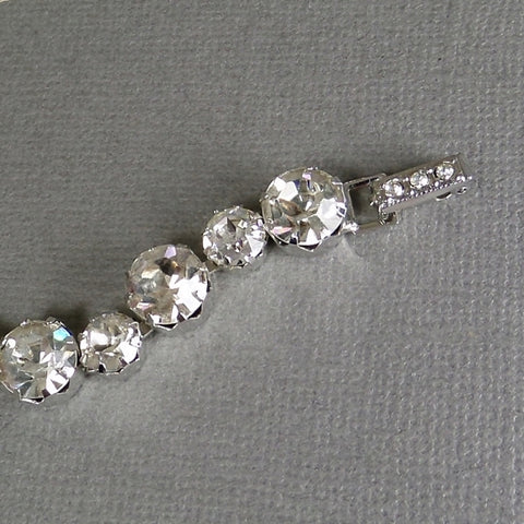 Designer Signed Vintage KRAMER Rhinestone Tennis Bracelet with TAG c.1950's - Years After
