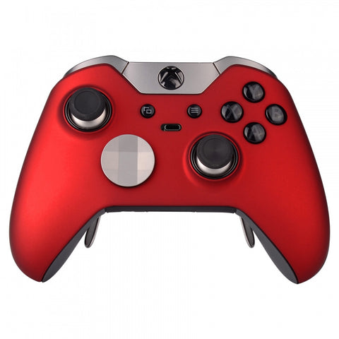 Soft Touch Red Custom Front Housing Shell for Xbox One Elite Controller -XOEP001