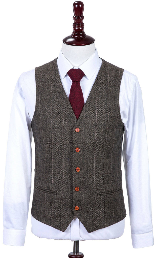 Country Estate Herringbone Tweed Waistcoat