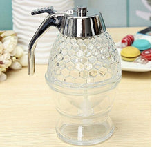 Load image into Gallery viewer, Elegant Crystal Honey Dispenser and Warmer Set