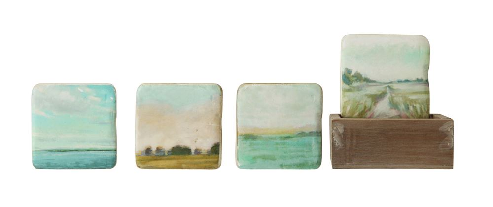 Landscape Coaster Set (Set of 4 w/ Box)