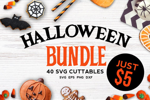 Halloween bundle 40 SVG file Cutting File Clipart in Svg, Eps, Dxf, Png for Cricut & Silhouette
