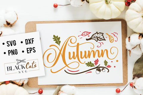 Autumn SVG file Cutting File Clipart in Svg, Eps, Dxf, Png for Cricut & Silhouette
