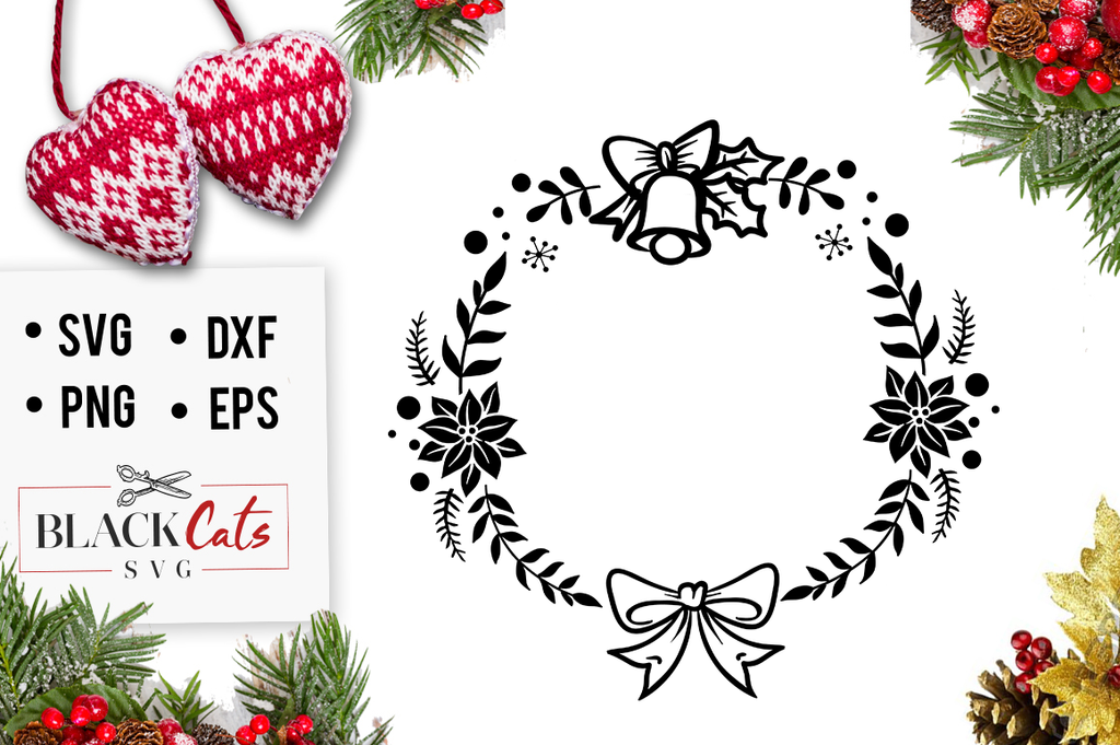 Christmas frame SVG cutting file